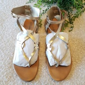 Rosegold Strappy sandals.  7.5